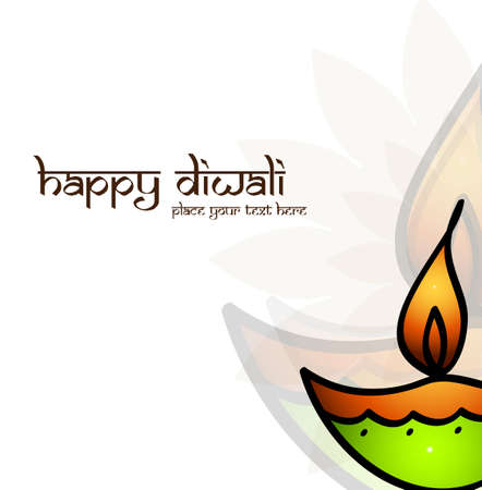 Happy Diwali card for artistic colorful vector background Vector