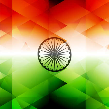 texture of illustration: Indian flag stylish texture illustration for independence day background vector Illustration