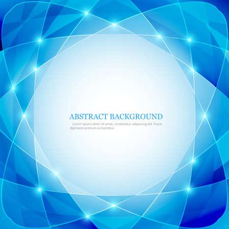 technology background: polygon technology blue background vector Illustration