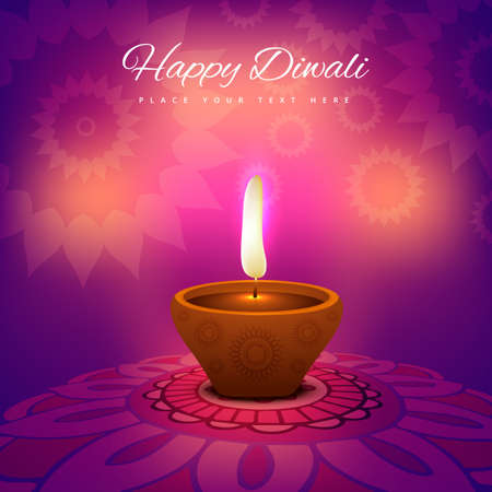 beautiful diwali festival card bright colorful background Illustration