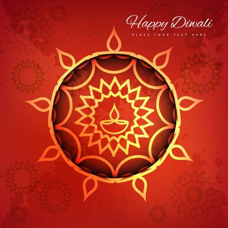 dipawali: Religious card design for Diwali festival background vector illustration Illustration