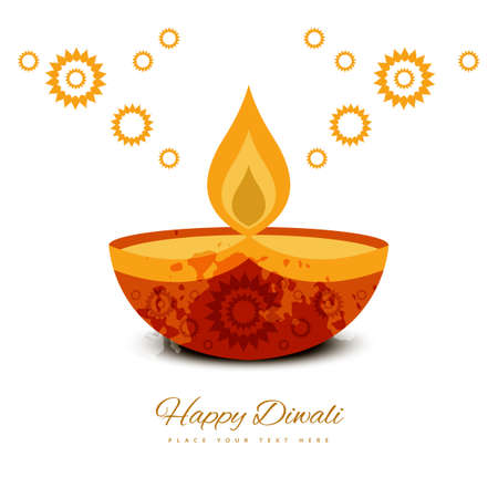 Beautiful diwali greeting card colorful background vector Illustration