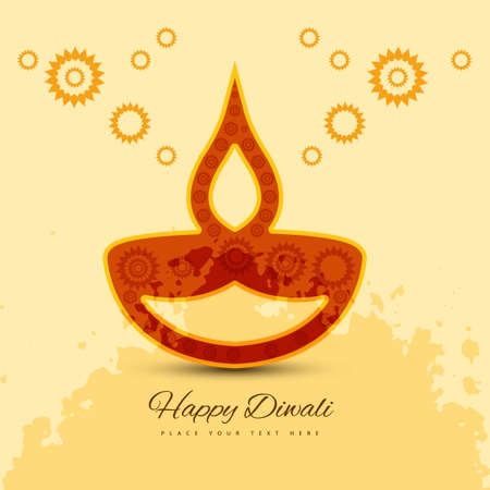 vector colorful style happy diwali background illustration