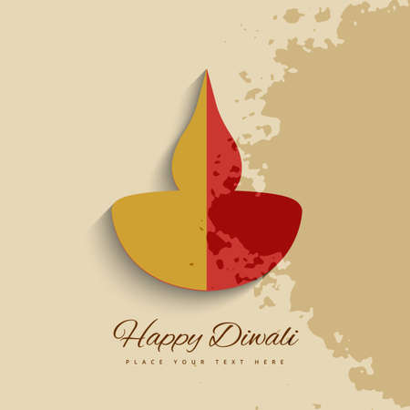vector colorful diwali diya style beautiful design