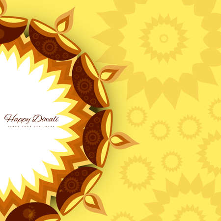 india pattern: Religious card design for Diwali festival with colorful lamps beautiful vector background