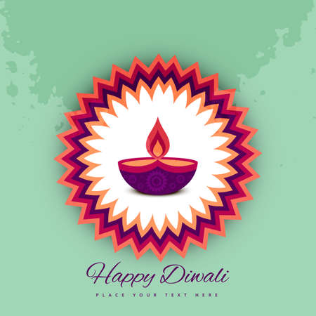 diwali celebration: Diwali festival celebration card colorful vector background