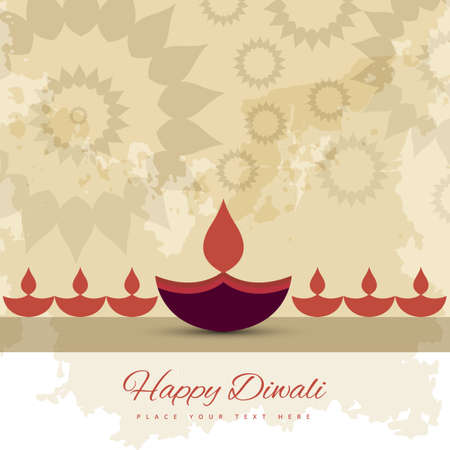 diwali: Happy diwali diya celebration decorative colorful background vector