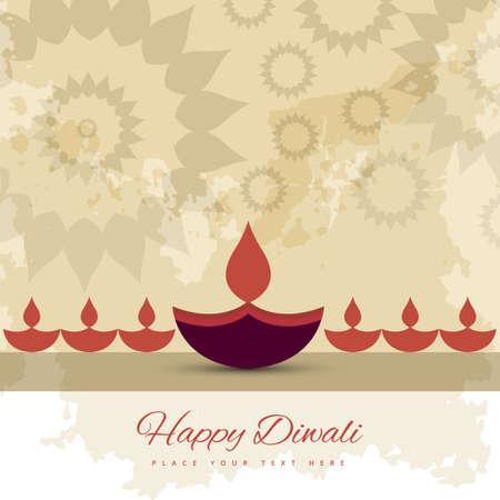 diwali celebration: Happy diwali diya celebration decorative colorful background vector