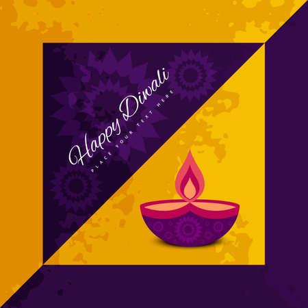 diwali celebration: Diwali card festival celebration colorful background illustration Illustration