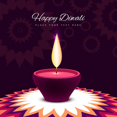 diwali: diwali festival with beautiful lamp colorful shiny background  illustration Illustration