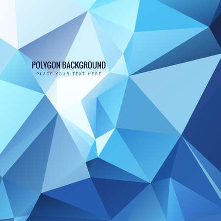 shiny background: Shiny blue polygin background
