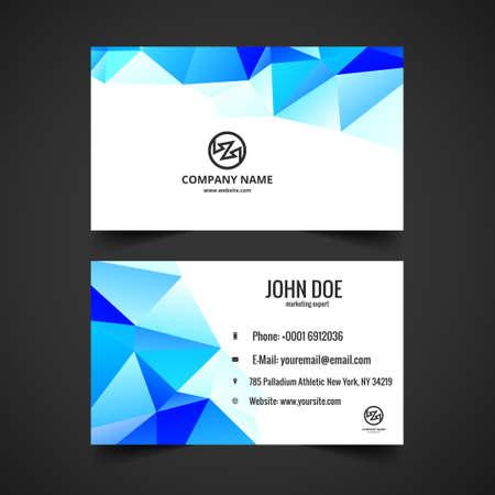 presentaion: Blue polygon visiting card