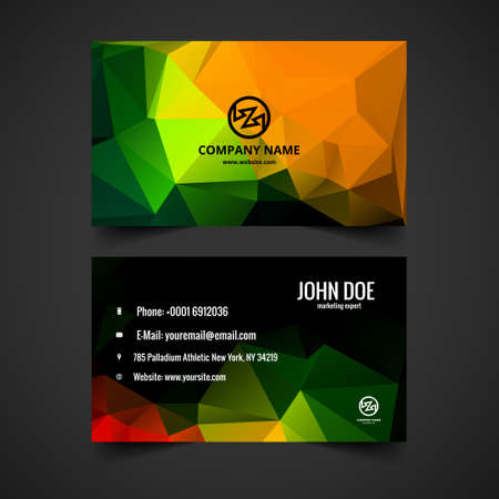 presentaion: Colorful business card vector Illustration