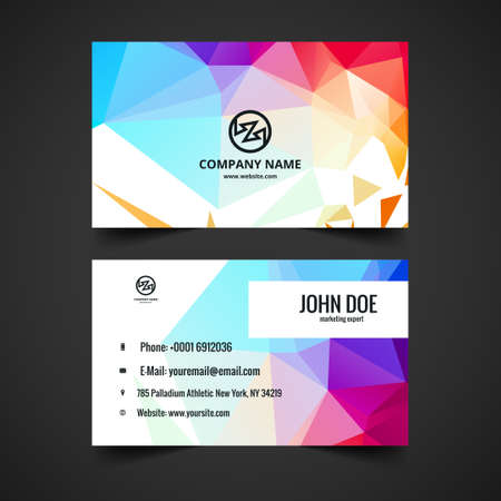presentaion: Modern colorful vector business card