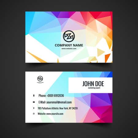 logos de empresas: tarjeta de visita colorida moderna del vector Vectores