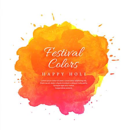 Joyeux festival de printemps indien Holi de fond de couleurs