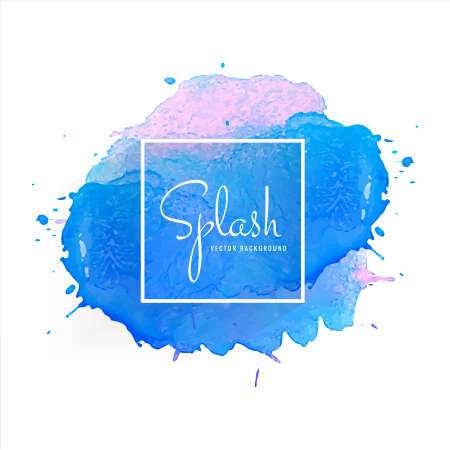 Abstract hand drawn watercolor colorful splash  background 向量圖像