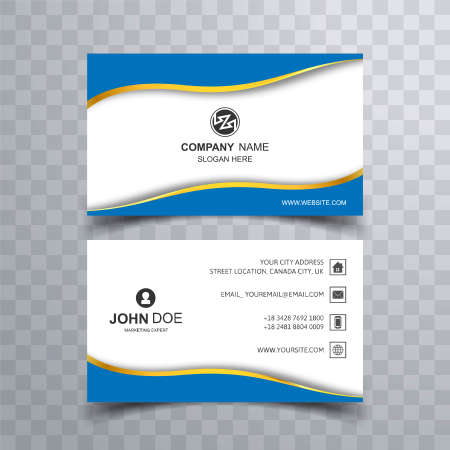 Abstract creative business card set template