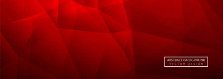 Abstract red shiny polygon banner template background