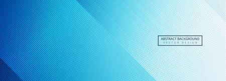 Beautiful shiny blue lines banner design