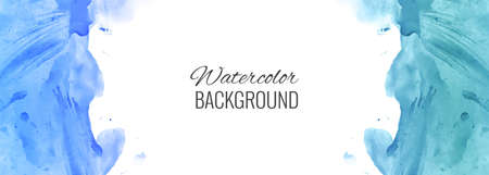 Abstract colorful watercolor banner background 일러스트