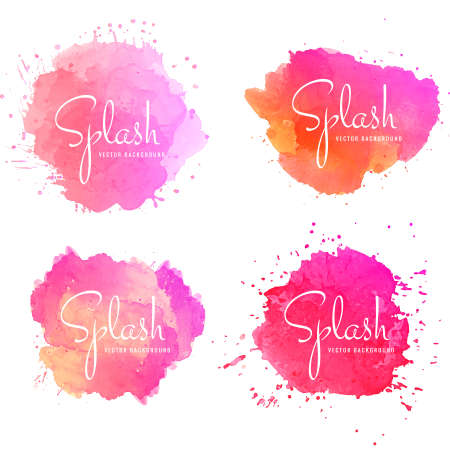 Abstract colorful splash set vector