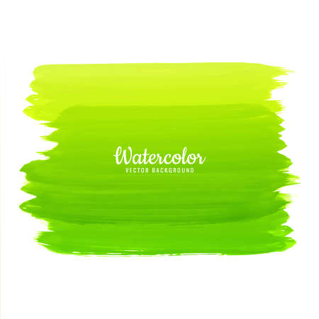 Abstract Watercolor Strokes On White Background