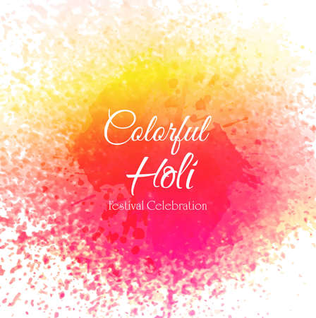 Happy Holi Indian spring festival of colors background 向量圖像