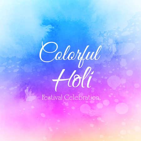 Indian festival Happy Holi celebration background 일러스트