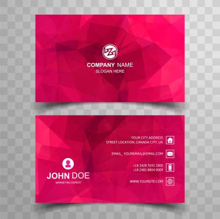Elegant polygon business card set template design 일러스트