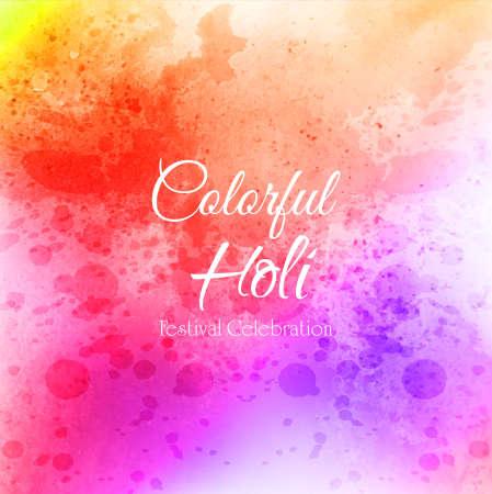 Celebrate festival Colorful Holi Background