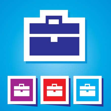 brief: Icon of Brief Case  Vector Illustration