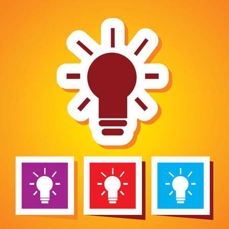 Light Bulb Icon Illustration  Idea Vector