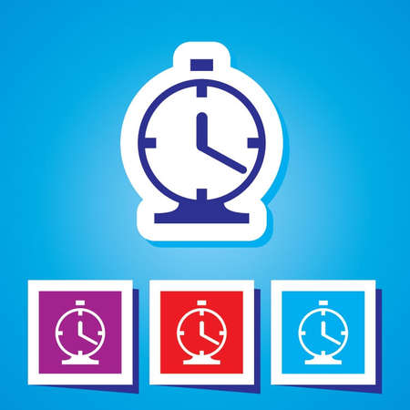 Vector clock icon Stock Vector - 20495993