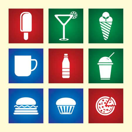 food icon set: Food icon set  Vector Illustration Illustration