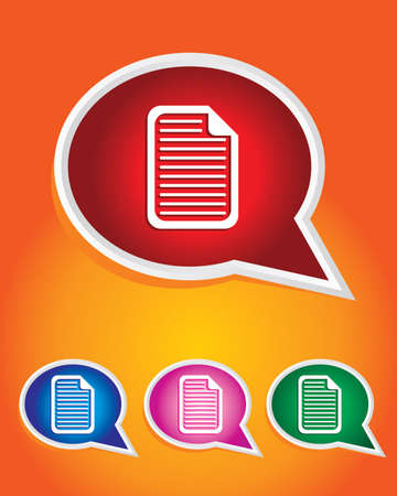 Document Icon on The Speech Bubble Stock Vector - 20668733