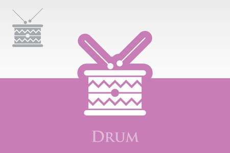 icon of Drum Vector