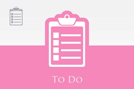 Icon of To Do Check List Vector