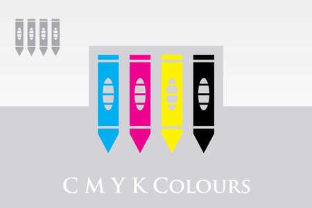 CMYK Pencils Illustration
