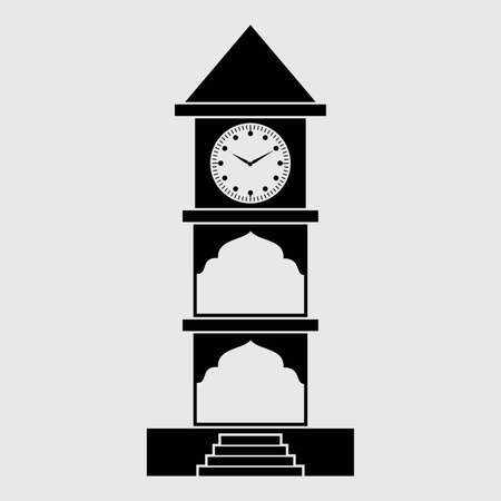 Editable Icon of Clock Tower Stock Vector - 21700006
