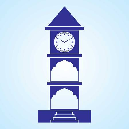 Editable Icon of Clock Tower Vector