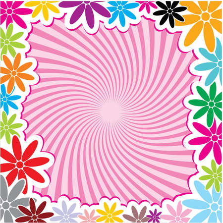 Very Useful Decorative Flower Frame Background Vector