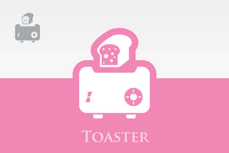 Icon of Toaster  Vector