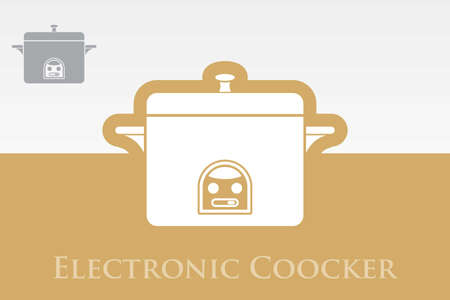 Icon of Cooker Vector