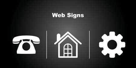 make a call: 3 Web Icons on Black Background