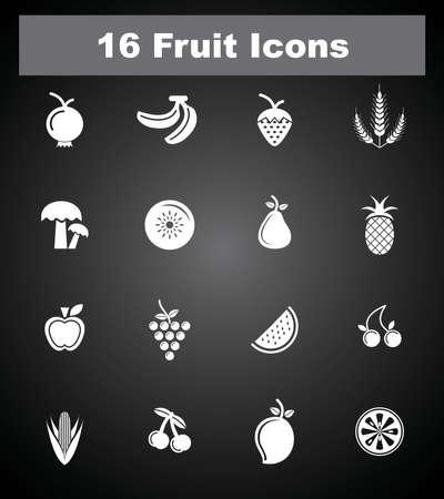 alimentation: 16 Fruit icons
