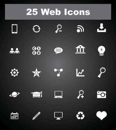 25 web icons  Vector