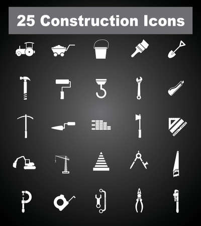 25 Construction icons  Vector