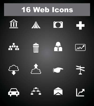 16 web icons Stock Vector - 26200773