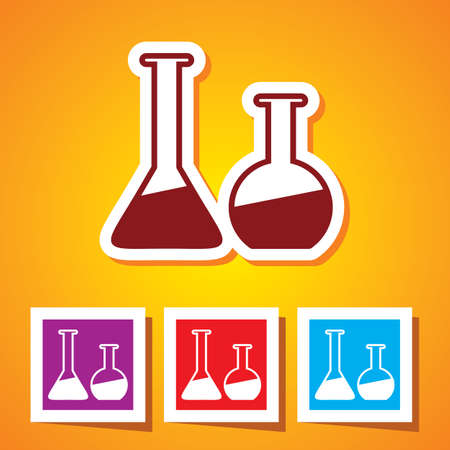 Colourful editable icon of Laboratory Glass  Beakers  Vector